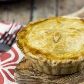 ... Chicken Pot Pies - a creamy veggie mixture in a flaky crust