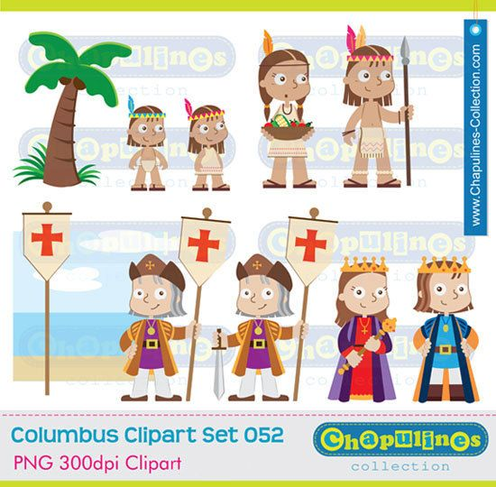 50% off Columbus Clipart The Discovery of by ChapulinesCollection