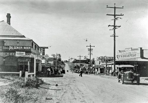 Edmond Street looking east, Marburg, 1920