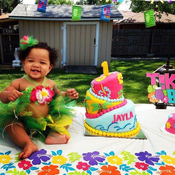Hawaiian Luau--Baby Girl 1st Birthday Tutu Set--Party Outfit--Costume on Etsy, $65.00