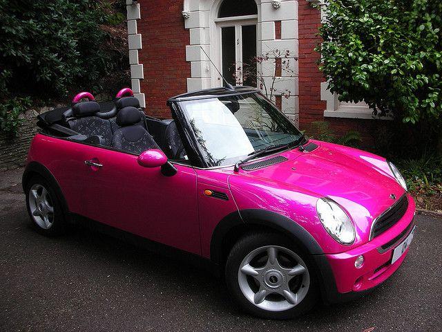 25 best pink mini coopers ideas on pinterest mini. Black Bedroom Furniture Sets. Home Design Ideas