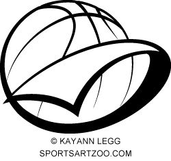 Basketball Pennant with Text | gym | Basketball design ...