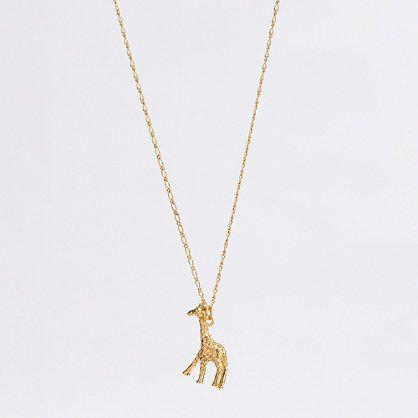 giraffe charm necklace / j.crew factory