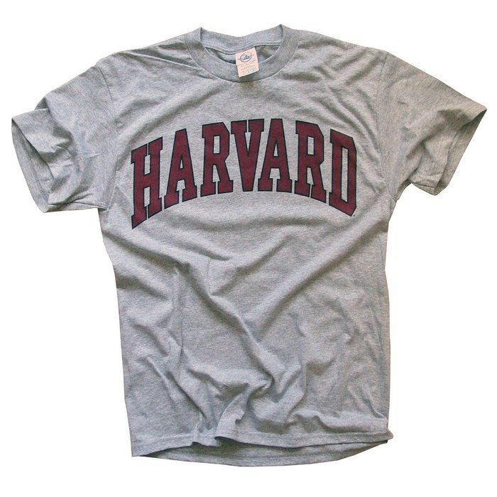 Harvard University T-Shirt, Officially Licensed College Athletic Tee, Gray S