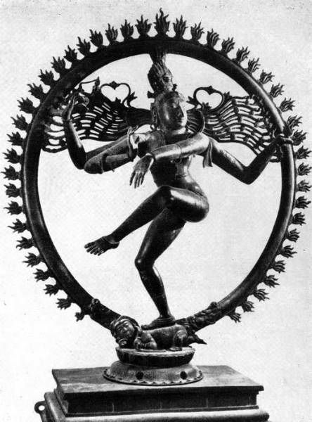 "Shiva-Nataradzha (""Tsar of dance""). Bronze."