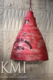 "industrialna lampa  ""Loft Colors"" M-2717 czerwona"