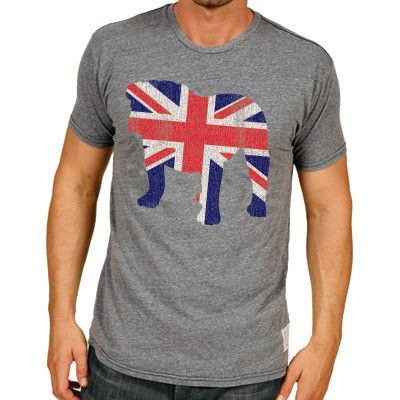 Bulldog Flag Men's Short Sleeve Tee  #BritishBulldog #UnionJack #GreatBritain #England #RetroBrand