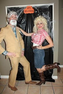 Friday We're In Love: Halloween Dinner Party: Perfect couple's Halloween costume idea- Kenny Rogers and Dolly Parton