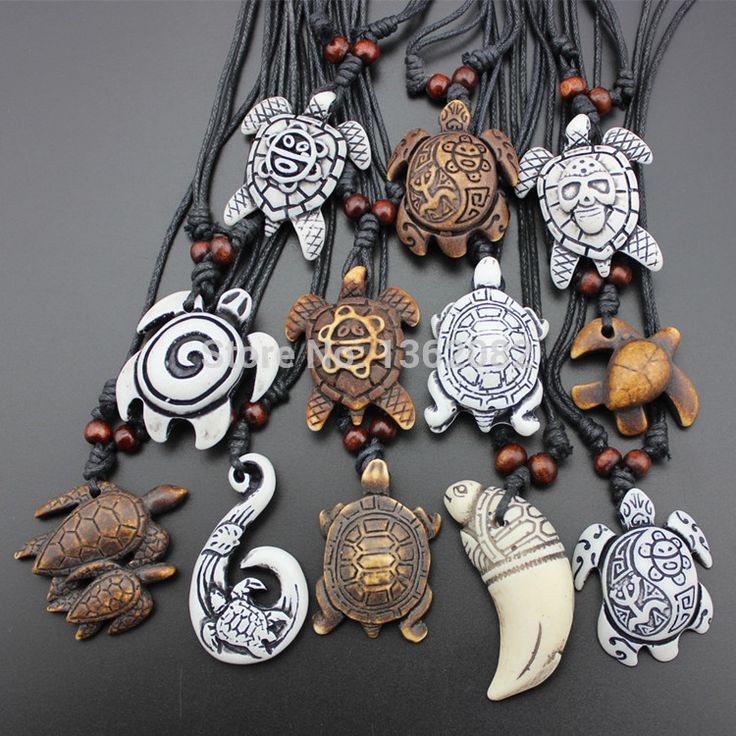 Hot Selling 12pcs Imitation Yak Bone Carving Lucky Surfing Turtles Pendant Adjustable Cord Necklace Amulet Gift MN329(China (Mainland))
