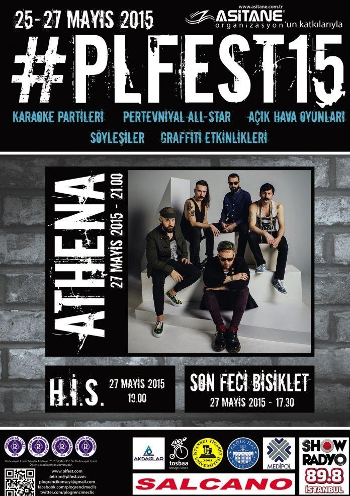 25-27 Mayıs 2015 tarihlerinde gerçekleşecek #PLFEST15'te söyleşiler, oyunlar ve eğlenceli etkinlikler gençleri bekliyor. #festival #rock #konseri #athena