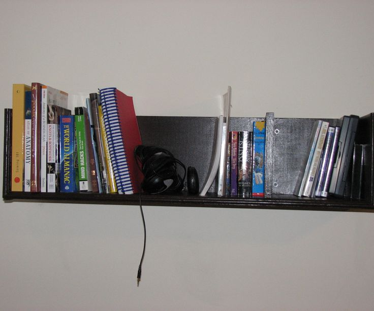 how to build wall mounted bookshelves for less than 100 - Wall Mounted Bookcase