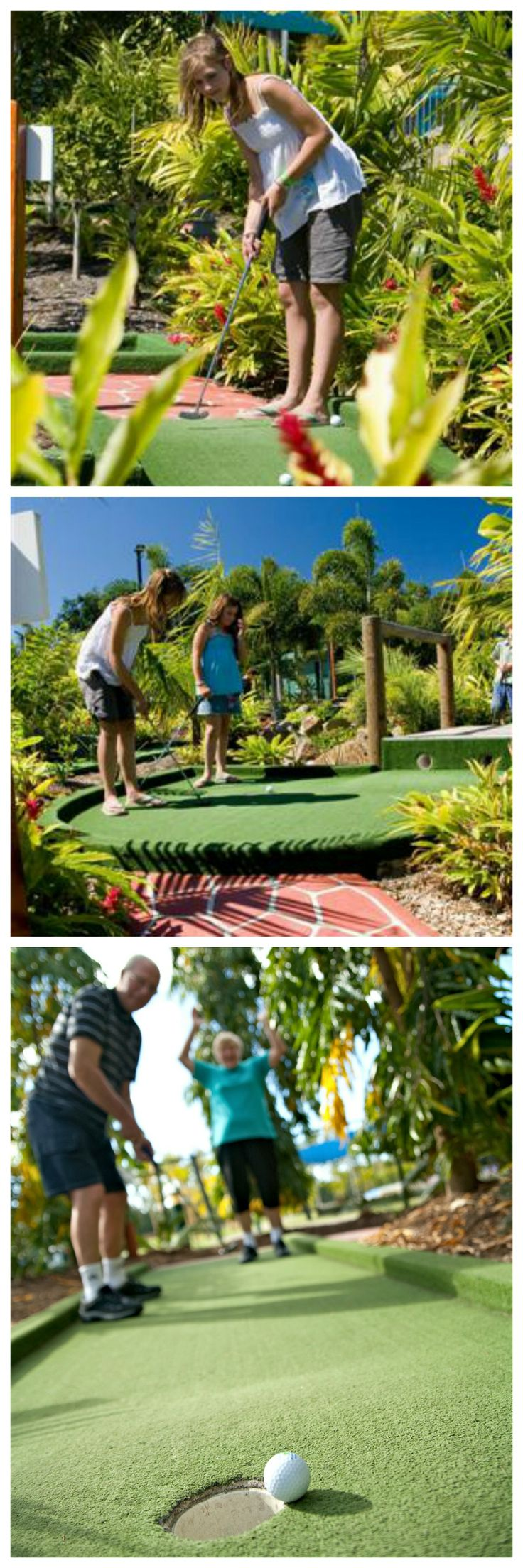 We have an 18-hole mini golf course on the grounds of the resort. Fun for all ages to enjoy!