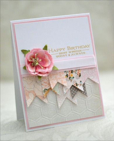 Birthday - She said she made it in less than 10 min - But how much prep time was there??? Nice looking card, tho. EMS