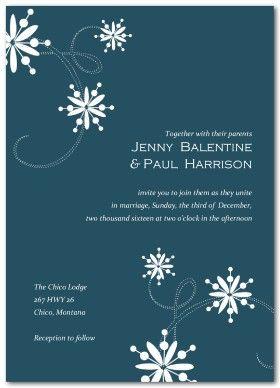cheap snowflake wedding invitations