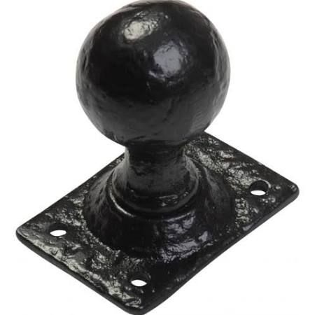 Kirkpatrick 1069 - Black Antique Rim Lock Door Knobs