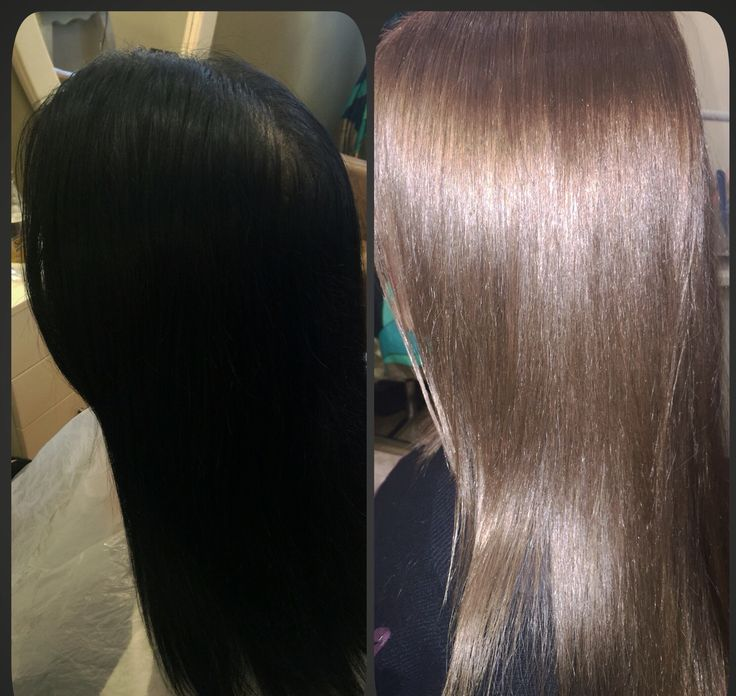 From black to mediterranean blonde
