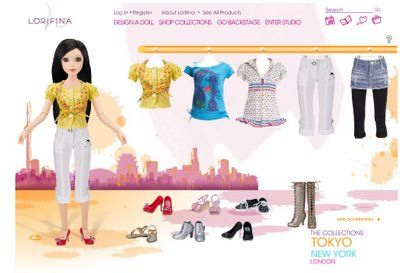 Lorifina, the new Fashion Doll from Hasbro | The Dollhead. Screen cap from www.lorifina.com - the Tokyo collection, 2008.