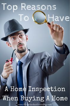 Having a home inspection when buying a home is highly recommended. Check out the top reasons to have a home inspection when buying a home. http://www.rochesterrealestateblog.com/top-reasons-to-have-a-home-inspection-when-buying-a-home/ via @KyleHiscockRE #realestate #homebuying #homeinspection