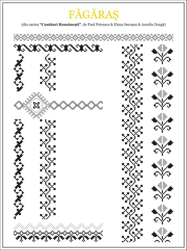 Romanian cross stitch pattern