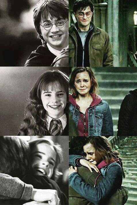 I love the friendship between Harry and Hermione<<key word friendship. Romione for life
