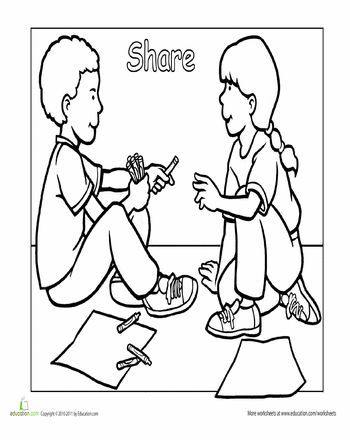 considerate and caring coloring page - 14 best authority gs images on pinterest toddler