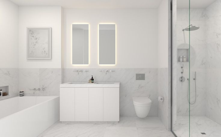 101 Wall-Piet Boon:Finely honed marble countertops and wall cladding in the master bathroom by Piet Boon