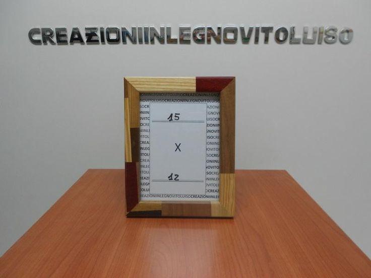 porta foto in legno massello  di creazioniinlegnovitoluiso su DaWanda.com costa solo € 20,74