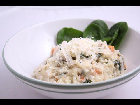 Smotanové rizoto so špenátom - YouTube