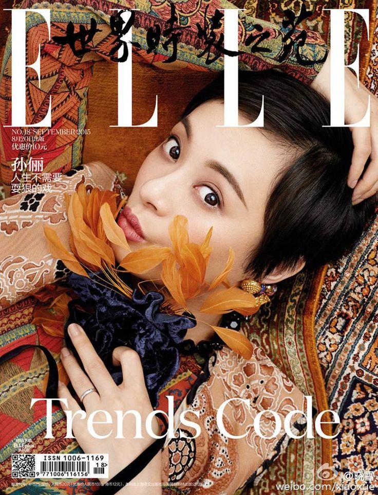 Sun Li for Elle China September 2015