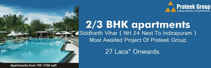 Prateek Group has launched a beautiful residential project Prateek Grand City at Siddharth Vihar nh 24 ghaziabad offering 2 bhk starting from 27 lacs. Prateek Grand City nh 24 is most promising project of Prateek Builder