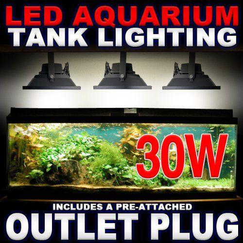 30W LED Aquarium Flood Light COOL White High Power Fish Tank Lighting Reef Plant D?cor Salt Fresh H2O Main Lighting, Sub Lighting, Fresh Water Tanks, Salt Water Tanks KapscoMoto