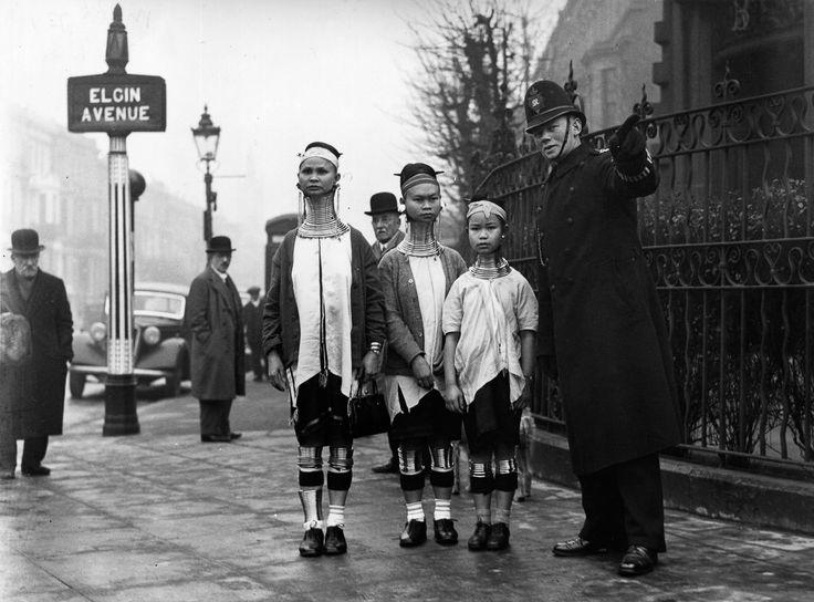 1935: When the 'giraffe women' of Burma visited London