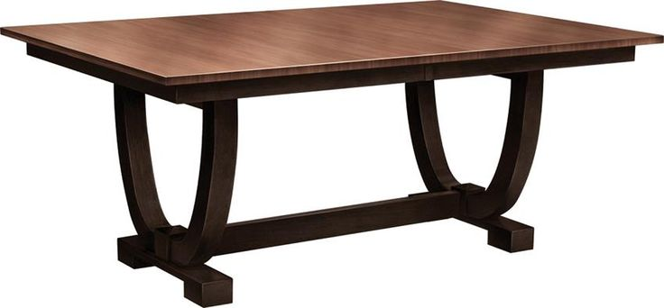 Amish Falcon Trestle Table In the most popular rectangular shape, the Amish Falcon Trestle Table takes on a transitional nature, exhibiting contemporary shape and solid wood warmth. #solidwoodfurniture