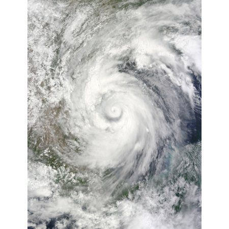 Hurricane Alex over the western Gulf of Mexico Canvas Art - Stocktrek Images (25 x 32)