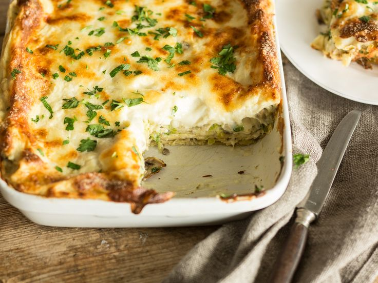 Rosenkohl-Pilz-Lasagne