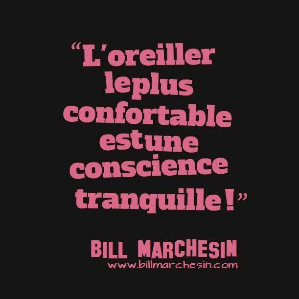 Image Proverbe Citation :  L'oreiller le plus confortable est une conscience tranquille...