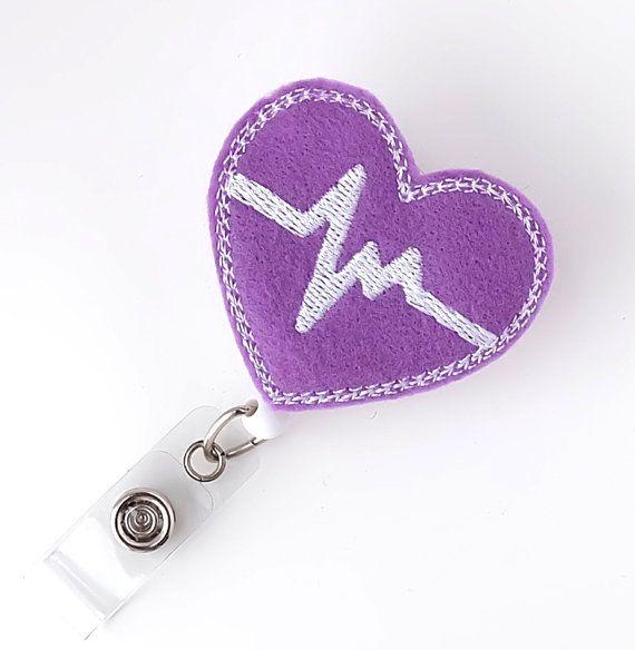 Electrocardiograma tira insignia carretes  carrete Fieltro