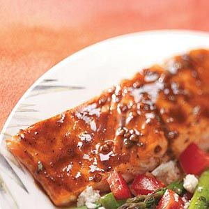 Balsamic-Glazed Salmon Recipe - Use any of Oliveto's Infused Balsamic Vinegars for a unique twist.  I recommend especially Raspberry Balsamic or Maple Balsamic.
