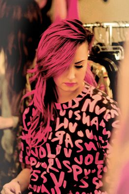 Demi Lovato Pink Hair Tumblr