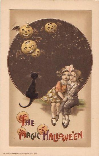 1910s John Winsch Halloween Postcard