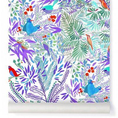 Jazz Aqua Wallpaper Multicoloured  Little Cabari