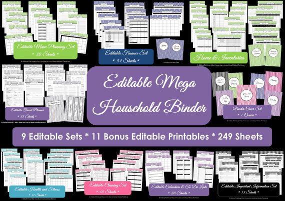 EDITABLE Household Binder Printables Home Binder Cover Organisation Family Planner Day Planner Pdf Chevron Printable Perpetual Planner https://www.etsy.com/au/listing/179373709/editable-household-binder-printables?ref=shop_home_active_4