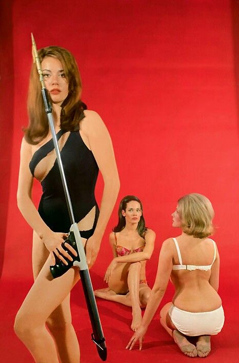 Bond girl Claudia Auger & Friends from Thunderball