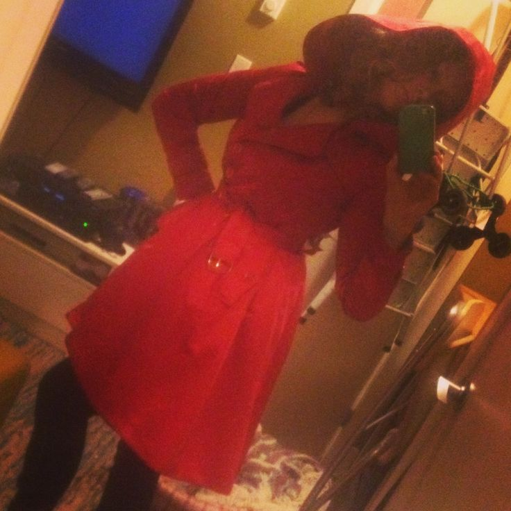 Hooded Red trench coat , with full skirt. Little red riding hood coat that's waterproof lilluvrocdesigns.com