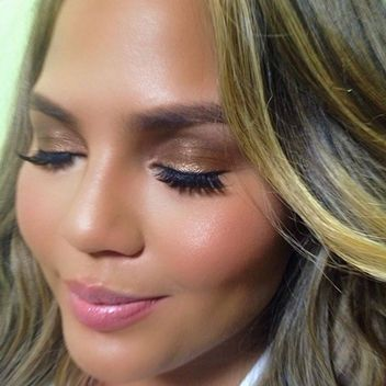 The Products Behind This Stunning, Glowy Picture of Chrissy Teigen...love it all, and I think the lipstick is the perfect pink!