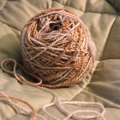 Coffee Dyed Self-striping Yarn