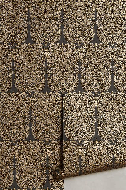 Alpana Wallpaper Damask wallpaper