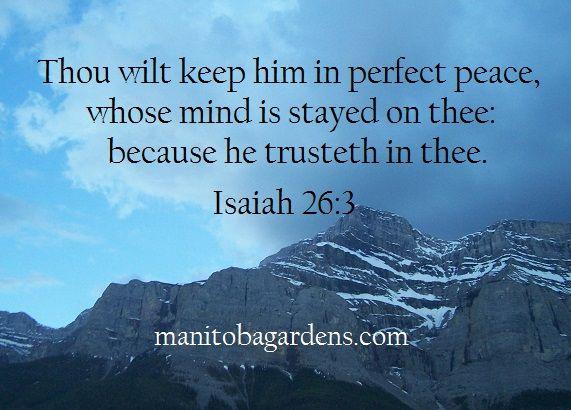 Scripture Picture Isaiah 26:3