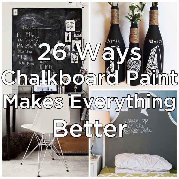 25 Amazing Chalkboard Wall Paint Ideas: 25+ Unique Chalkboard Paint Crafts Ideas On Pinterest