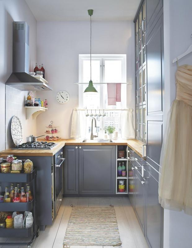 las mejores ideas para decorar cocinas estrechas
